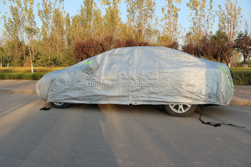Oxford Cloth Anti-dust Waterproof Sunproof Car Covers with Warning Strips sedan Car Cover