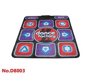 8 Bit 2 IN 1 Dual function single playing dance mat pad for PC USB
