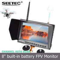 8 inch fpv monitor wireless 32ch 5.8g built-in integrated lipo battery high brightness 450cd/m2 2015 new rc toys