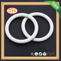 Excellent quality High Tear Resistance White silicone rubber o ring