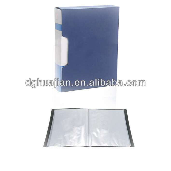 Customized clear book display PP plastic Cover A4 size with custom logo from China Manufacture