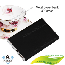 universal out door power bank 4000mah ultra slim design with high capacity metal case power charger bank