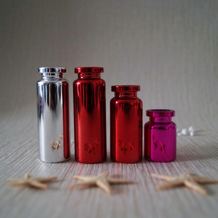Custom color 5ml 8ml 10ml glass injection vials rubber stopper