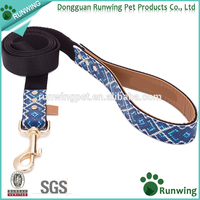 Soft Touch PU Leather Dog Leash and Matching Collar