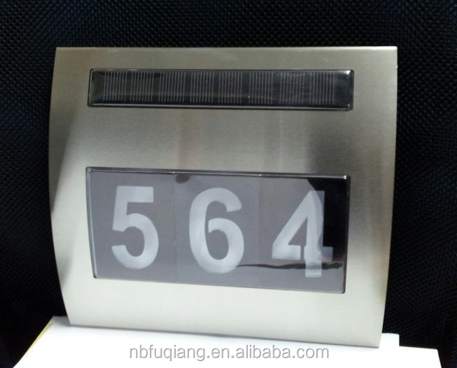 2016 New Style Led Doorplate solar house number light