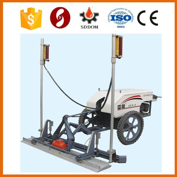 Small 1.8m concrete vibrating screed with laser system