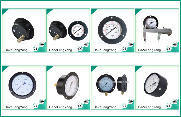 Factory price cheap bourdon type pressure gauges Y-60