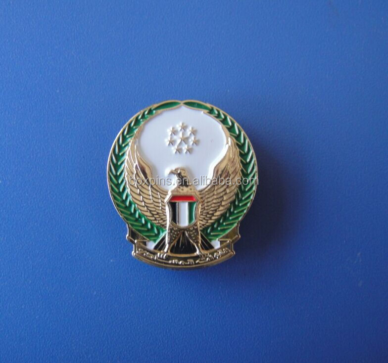 UAE flag eagle 3D badge emblem