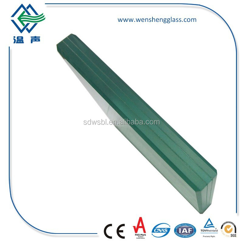 6.38-42.3mm AS/NZS 2208:1996 Laminated Green Glass Sheet