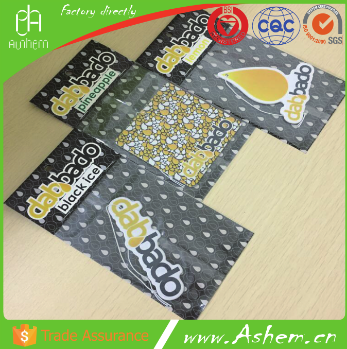 The best selling high quality car paper scent with Logo printing IC-870