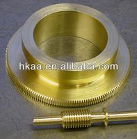 copper precise lathing telescope worm gear and worm shaft