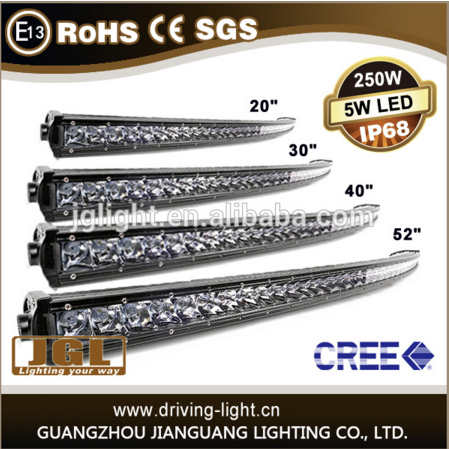 auto parts,jeep,cars led light bar 50'' 250w led driving light bar ip67 offroad led light cars cree led offroad light