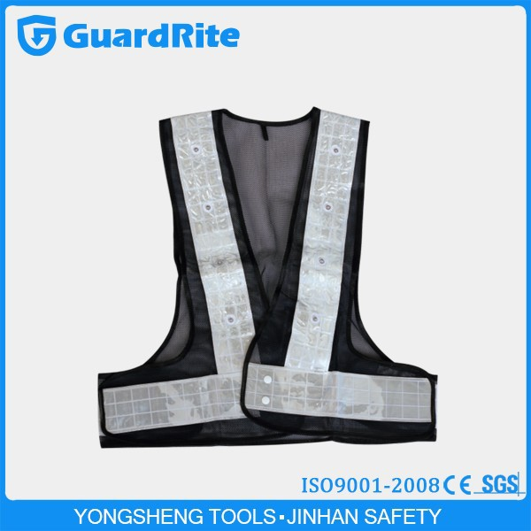 GuardRite airport solar led light safety vest,construction safety vest