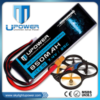 upower 7.4v 850mAh 20C rc lipo battery 25c with high discharge rate for uav airplane