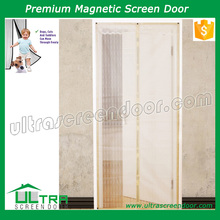 Full frame velcro mesh screen door anti insects