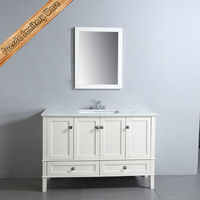Matte Lacquer Red Oak Solid Wood Classical Bathroom Vanity