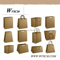 high qualtity luxury white and brown kraft paper bag