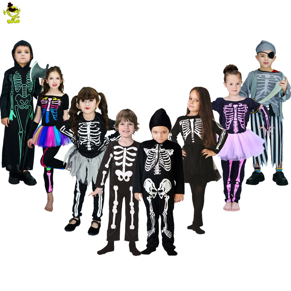 Halloween costumes for kids skeleton series dress party halloween costume