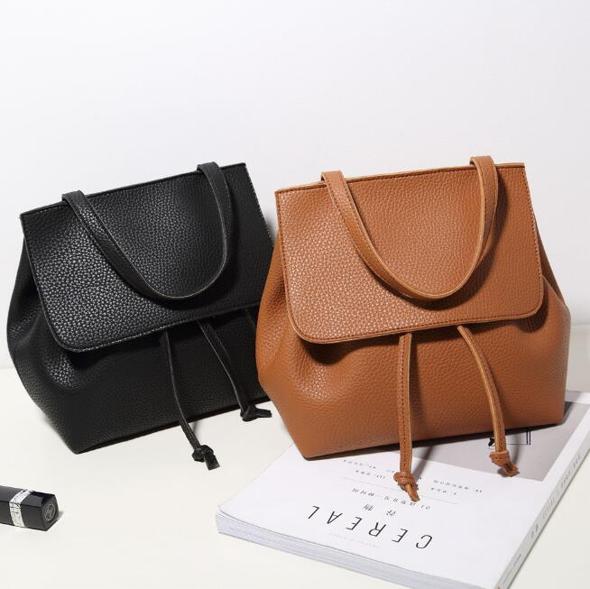 zm32452a hot sale simple design female small shoulder bag trendy leather bucket bag