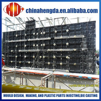 plastic formwork for construction, fast building construction, formworks for building construction
