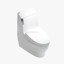 single flush S-trap one piece smart toilet with wash water function
