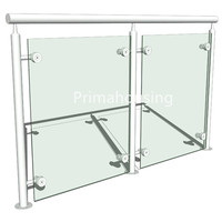 Popular outdoor u-channel tempered glass hand railings