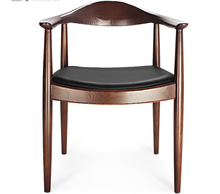 Luxury solid wood Kennedy chair in natural and walnut color