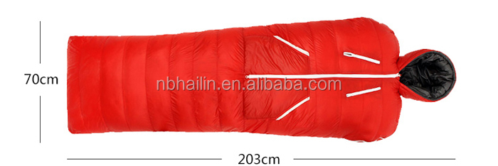 Portable Ultralight human Sleeping Bag Body Shape keep Warm for Camping Backpacking