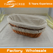High quality factory wholesale cheap beautiful wicker rattan toast bread show basket for sale