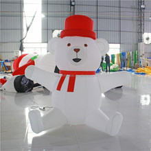Christmas decoration shopping mall center giant lovely bear decoration inflatable ST54