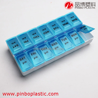 pill box price very low ,custom cheap many colors 14 day medication plastic pill boxes