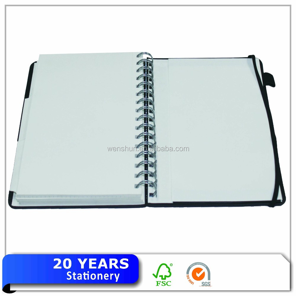 Cheap Spiral Bound PU Leather Notebook And Diary