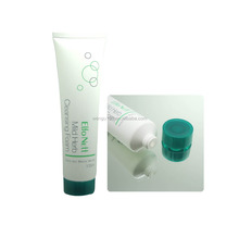 35mm plastic PE cosmetic tube,white tube sample packaging Short teeth plastic packaging tube with screw cap