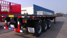 cimc platform semi trailer with 2 or 3 axles