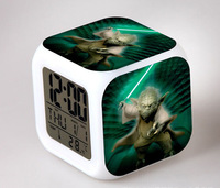 plastic foldable travel nature sounds alarm clock radio with day -date