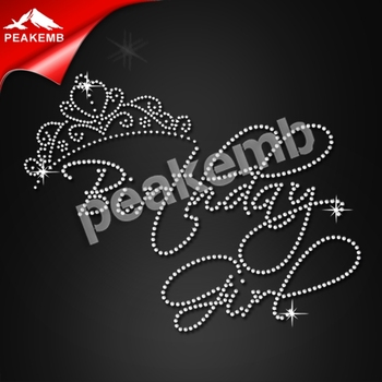 Birthday Girl Letters Design Hotfix Rhinestone For Clothes Decoration