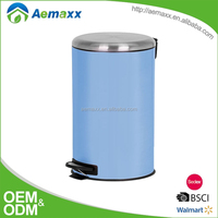 Capacity 3L/5L/12L stainless steel garbage can power coatiing pedal bin with stainless steel lid