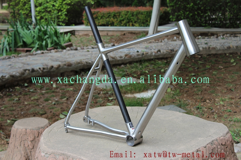 new design titanium road bike frame hot sale titanium touring bike frame Titanium & carbon bike frame custom