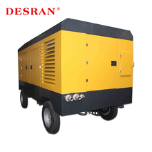 Screw Diesel Mobile Air Compressor 650CFM For Cement Plant