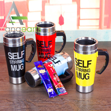 Good quality selling self ftring 500ML Automatic Electric Coffee <strong>Cup</strong> Smart Stainless Steel Mugs perfect gift mixing Coffee <strong>Cup</strong>