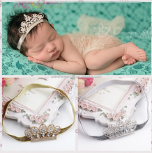 Wholesale Hot Sale Cute Rhinestone Baby Girl Crown <strong>Headband</strong>