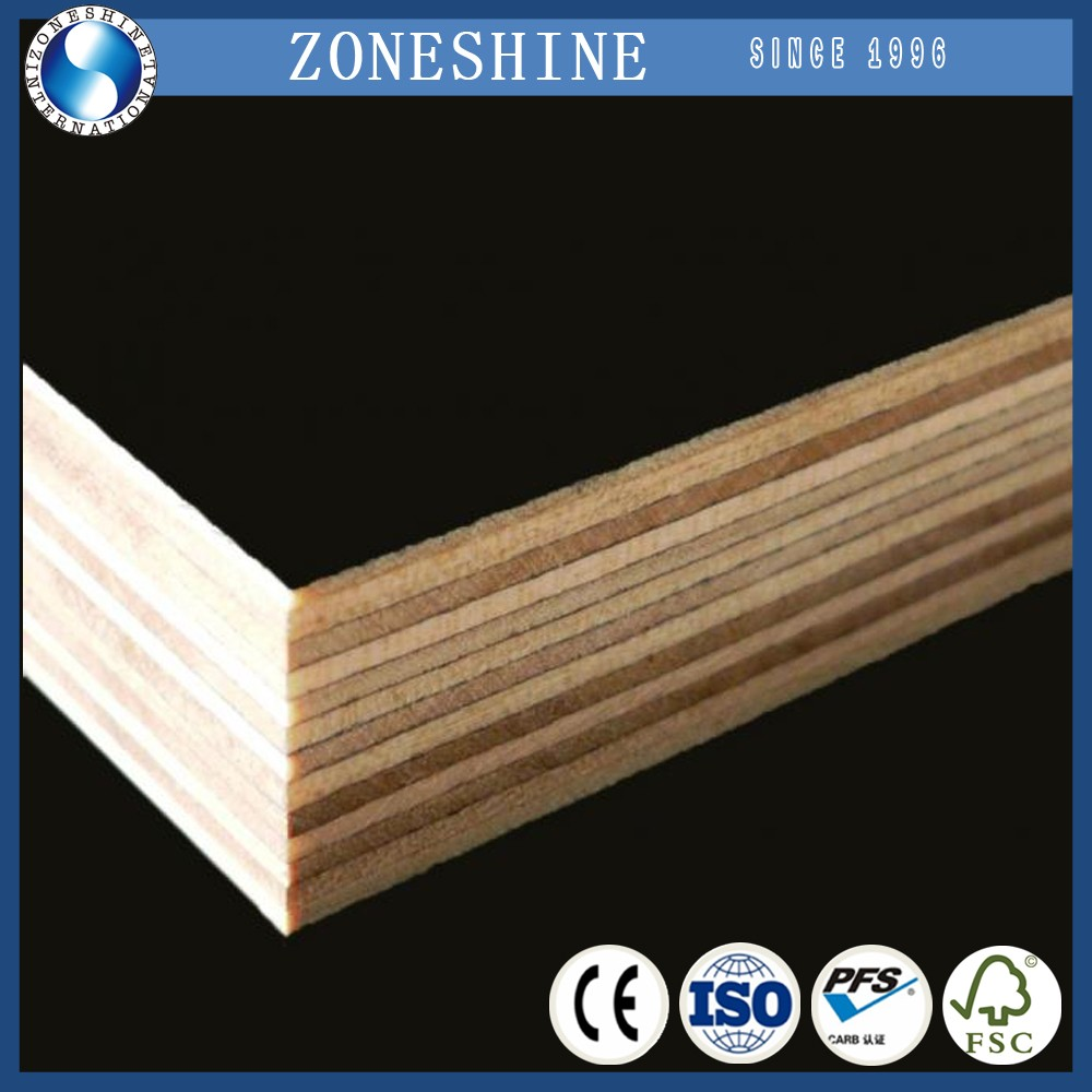Waterproof shuttering plywood/black film faced plywood for construction Customs Data