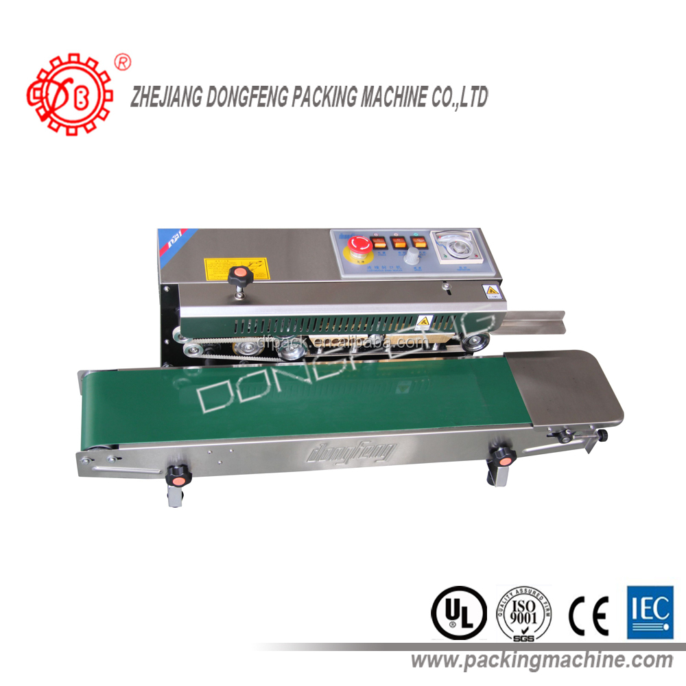 2017 hot sale stainless steel continuous band sealer DBF-770W