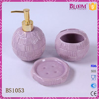 Fashion Style Purple Ceramic Bathroom Accessories