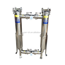 Economic duplex industrial stainless steel bag filter housing