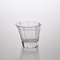 Popular Design High Quality Machine made Bevel Connection Glassware Water Glass Cup