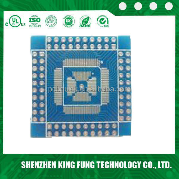 LCD Display FR4 Rigid PCB Layout Design Printed Circuit Boards 1OZ Blue / Green Slik Screen