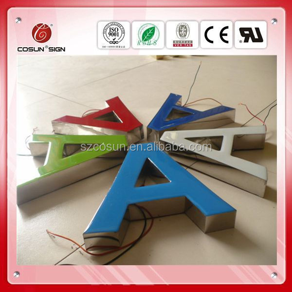 Advertising light up letters acrylic led sign,frontlit epoxy resin channel letter sign