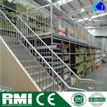 Jracking adjustable Q235 power coating ISO9001&CE multi-layer steel office mezzanine