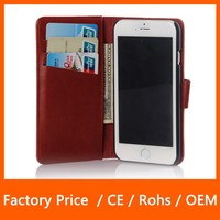 Ultra Slim Light Case Soft PU Leather Case With Credit Card ID Holder For iPhone 6